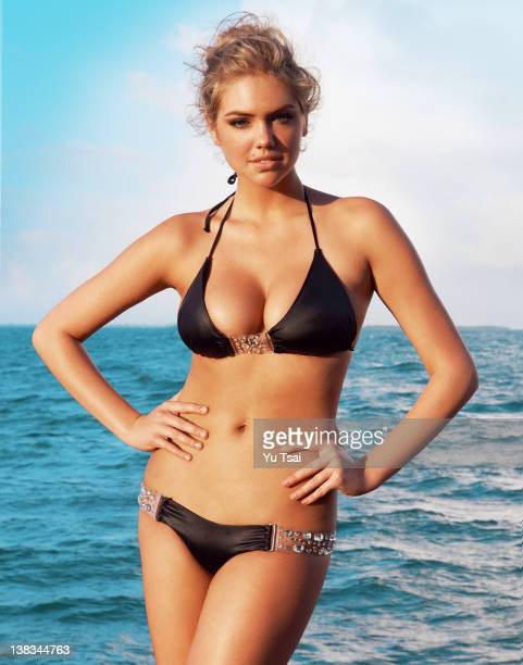 Model Kate Upton is photographed for Beach Bunny on January 14 2012 in Belize City Belize