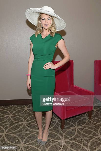 Model Kate Upton is seen around the 142nd Kentucky Derby at Churchill Downs on May 7 2016 in Louisville Kentucky