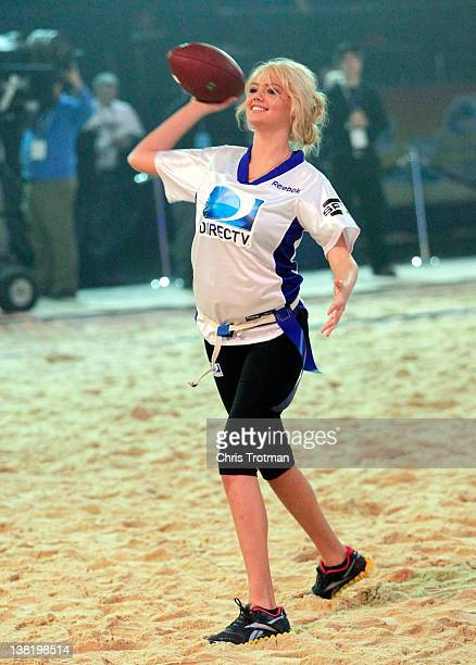 Model Kate Upton of team Spike TV participates in DIRECTV's Sixth Annual Celebrity Beach Bowl Game at Victory Field on February 4 2012 in...