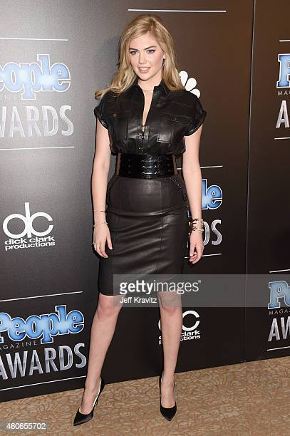 Model Kate Upton winner of PEOPLE's Sexiest Woman award poses in the press room during the PEOPLE Magazine Awards at The Beverly Hilton Hotel on...