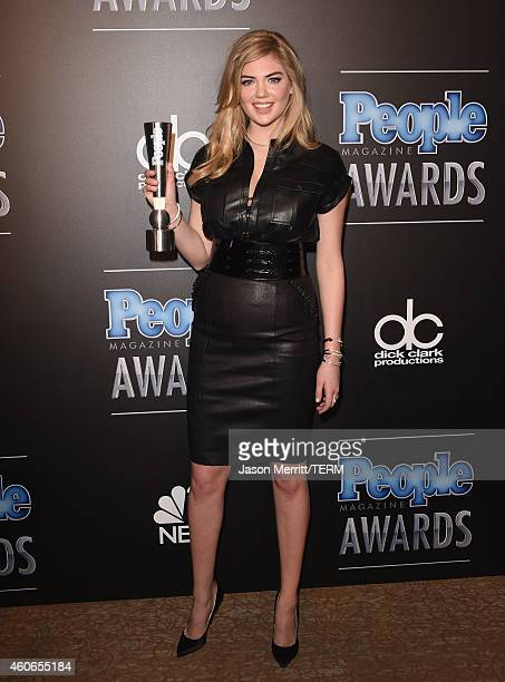 Model Kate Upton winner of PEOPLE's Sexiest Woman poses in the press room during the PEOPLE Magazine Awards at The Beverly Hilton Hotel on December...