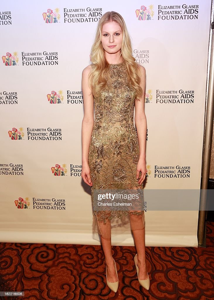 Model Kate Wagoner attends the 2013 Elizabeth Glaser Pediatric AIDS Foundation awards dinner at Mandarin Oriental Hotel on February 20, 2013 in New York City.