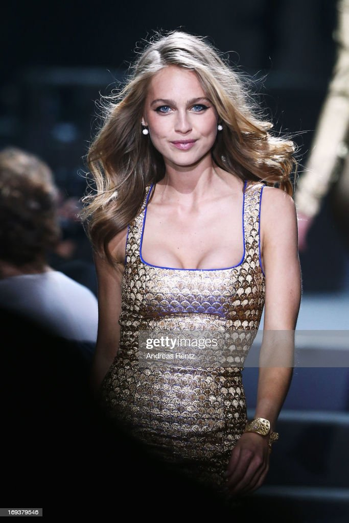 Model Katharina Damm walks the runway at the amfAR's 20th Annual Cinema Against AIDS during The 66th Annual Cannes Film Festival at Hotel du Cap-Eden-Roc on May 23, 2013 in Cap d'Antibes, France.