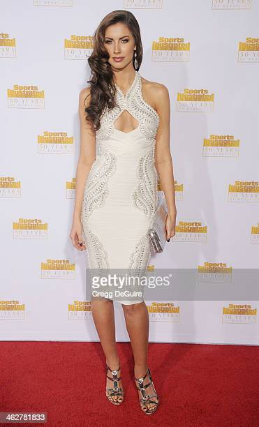 Model Katherine Webb arrives at the 50th Anniversary Celebration Of Sports Illustrated Swimsuit Issue at Dolby Theatre on January 14 2014 in...