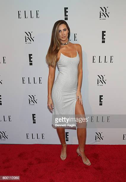 Model Katherine Webb attends the E New York Fashion Week Kick Off at Santina on September 7 2016 in New York City