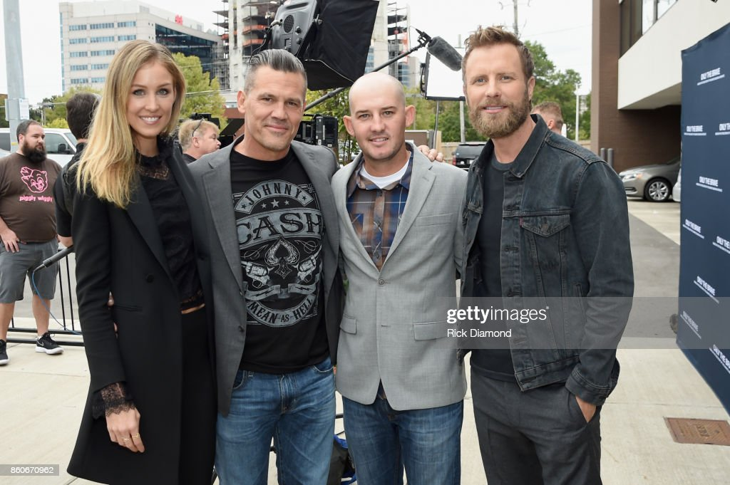 Model Kathryn Boyd, actor Josh Brolin, tech advisor Pat McCarty and singer-songwriter Dierks Bently attend 'Only The Brave' Nashville screening hosted by Dierks Bentley at The Belcourt Theatre on October 12, 2017 in Nashville, Tennessee.