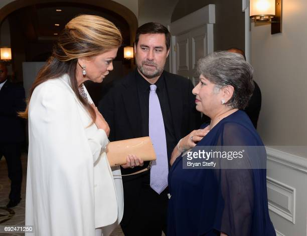 Model Kathy Ireland and Diamond Empowerment Fund Board of Director President Gemological Institute of America Anna Martin arrive at the Diamond...