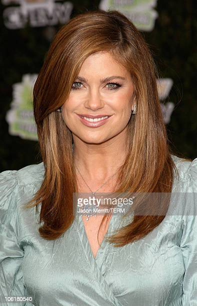 Model Kathy Ireland arrives at Chevy Rocks The Future at the Buena Vista Lot at The Walt Disney Studios on February 19 2008 in Burbank California