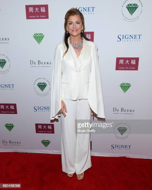 Model Kathy Ireland arrives at the Diamond Empowerment Fund's Diamonds Do Good awards gala at the Four Seasons Hotel Las Vegas on June 4 2017 in Las...