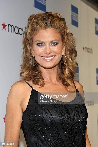Model Kathy Ireland arrives at the Macy's Passport gala held at Barker Hangar on September 24 2009 in Santa Monica California