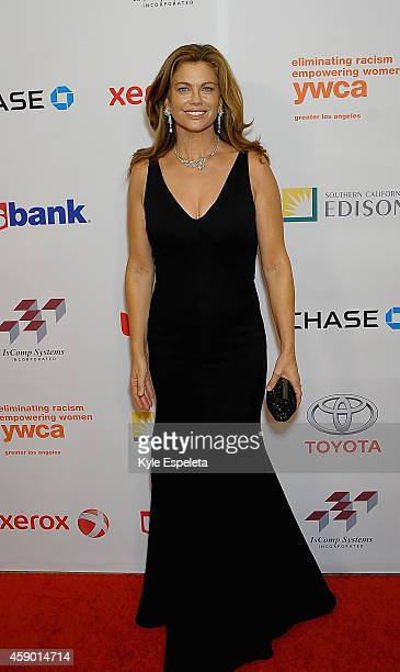 Model Kathy Ireland attend the Greater Los Angeles YWCA Rhapsody Ball at the Beverly Wilshire Four Seasons Hotel on November 14 2014 in Beverly Hills...