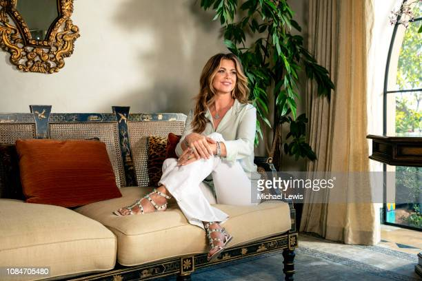 Model Kathy Ireland is photographed for Wall Street Journal on October 15, 2018 in Santa Barbara, California.