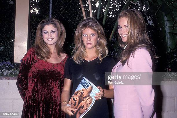 Model Kathy Ireland model Rachel Hunter and model Elle Macpherson attend the Press Conference to Promote 31st Edition of Sports Illustrated's...