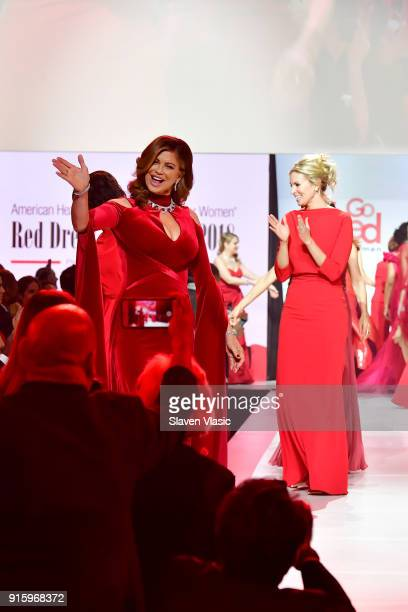 Model Kathy Ireland walks the runway during the American Heart Association's Go Red For Women Red Dress Collection 2018 presented by Macy's at...