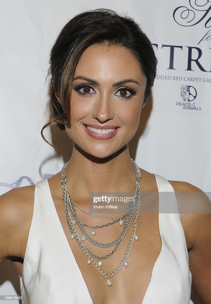 Model Katie Cleary attends Stars For Stripes Benefit Hosted By Alison Eastwood Benefiting Peace 4 Animals And Born Free USA at Hemingway's on November 10, 2012 in Los Angeles, California.