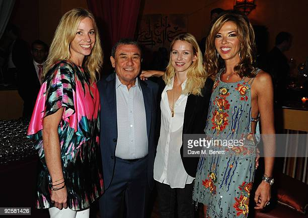 Model Katie Driver with Hotel Owner Sol Kerzner actress Naomi Watts and Heather Kerzner attend a party held for the grand opening of Mazagan Beach...