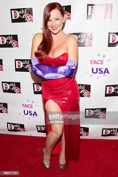 Model Katie Lohmann attneds Monster Man costume ball at Cabo Wabo Cantina on October 16 2013 in Hollywood California