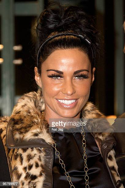 Model Katie Price aka Jordan attends the Heart FM Gala Performance of 'Legally Blonde The Musical' on January 15 2010 in London England