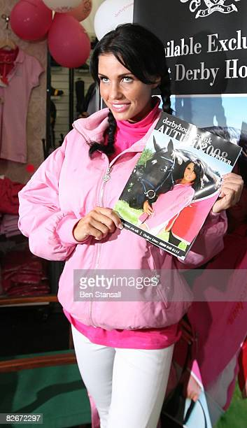 Model Katie Price attends day 2 of the Burghley Horse Trials to promote her new riding equiptment range in Stamford Lincolnshire on September 5 2008