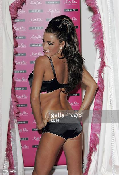 Model Katie Price poses for photographers to launch her new lingerie collection Katie Price at The Worx Studio on November 13 2006 in London England