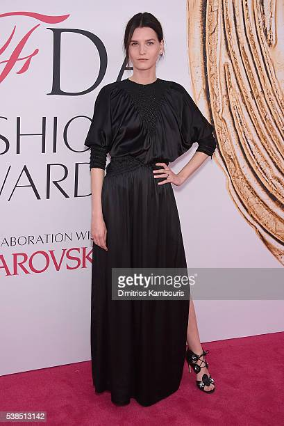 Model Katlin Aas attends the 2016 CFDA Fashion Awards at the Hammerstein Ballroom on June 6, 2016 in New York City.