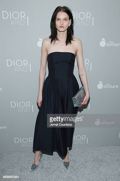 Model Katlin Aas attends The Orchard's DIOR I New York screening at Paris Theater on April 7 2015 in New York City