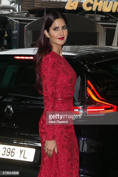 Model Katrina Kaif is seen at the Grand Hyatt Cannes Hotel Martinez during the 68th annual Cannes Film Festival on May 14 2015 in Cannes France