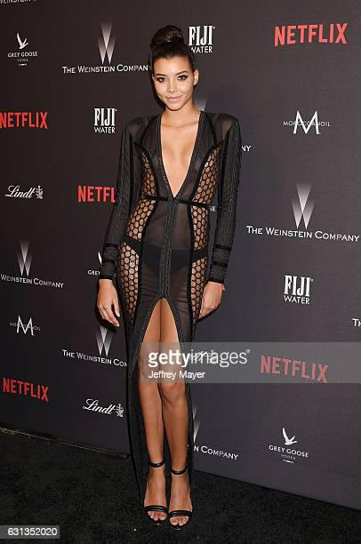Model Kayla Rivera attends The Weinstein Company and Netflix Golden Globe Party presented with FIJI Water Grey Goose Vodka Lindt Chocolate and...