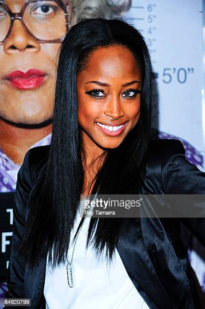 Model Keenyah Hill attends a screening of Tyler Perry's Madea Goes to Jail at the AMC Loews Lincoln Center on February 18 2009 in New York City