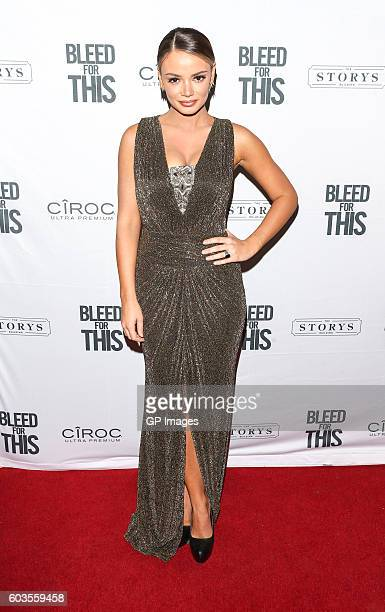 Model Keleigh Sperry attends Bleed For This TIFF Party At STORYS Toronto Hosted By CIROC at Storys Building on September 12 2016 in Toronto Canada
