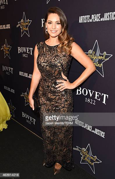 Model Kelly Brook attends the 8th annual Hollywood Domino Gala presented by BOVET 1822 benefiting Artists for Peace and Justice at the Sunset Tower...