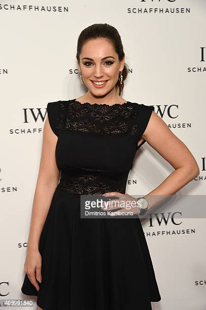 Model Kelly Brook attends the IWC Schaffhausen Third Annual For the Love of Cinema Gala during the Tribeca Film Festival on April 16 2015 in New York...