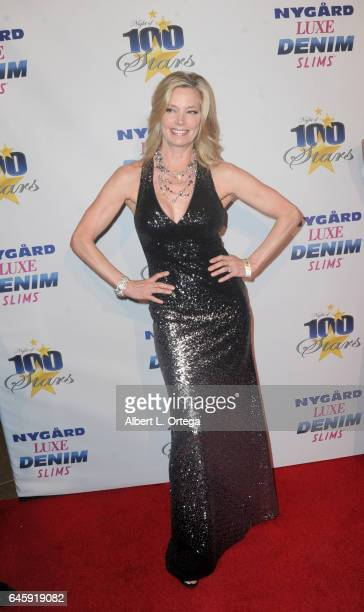 Model Kelly Emberg arrives for the Norby Walters' 27th Annual Night Of 100 Stars Black Tie Dinner Viewing Gala held at The Beverly Hilton Hotel on...