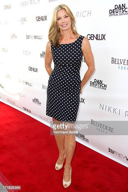 Model Kelly Emberg attends the Genlux issue release party held at the Luxe Rodeo Drive Hotel on June 28 2013 in Beverly Hills California