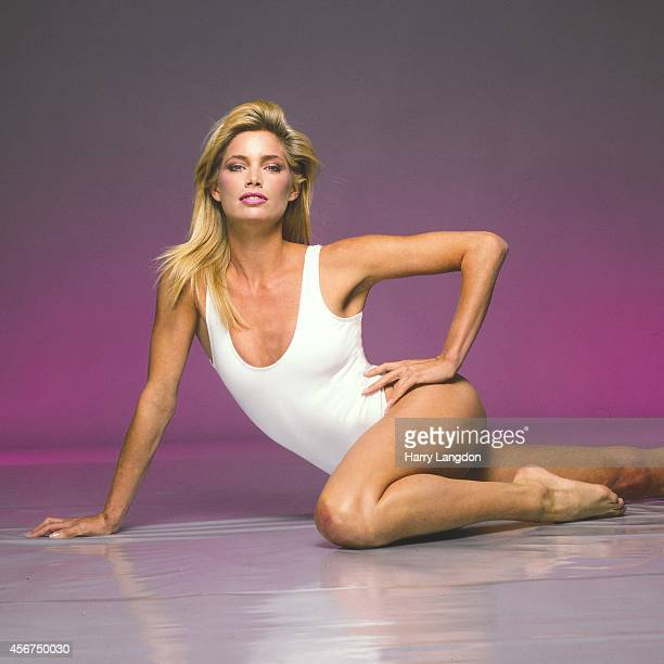 Model Kelly Emberg poses for a portrait in 1987 in Los Angeles California