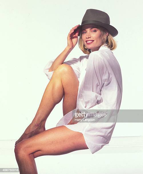 Model Kelly Emberg poses for a portrait in 1992 in Los Angeles California