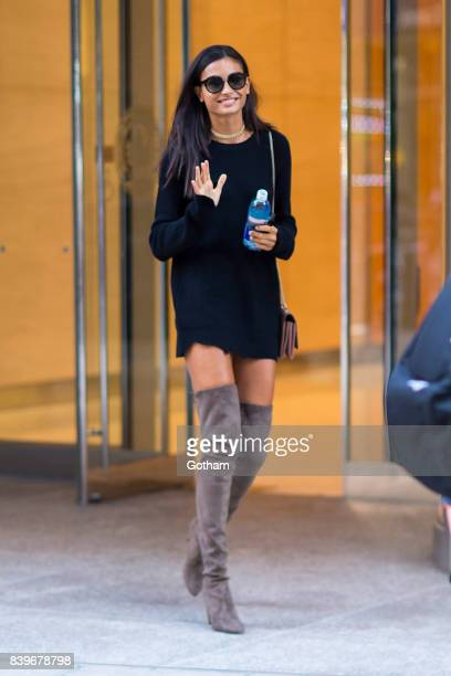 Model Kelly Gale is seen going to fittings for the 2017 Victoria's Secret Fashion Show in Midtown on August 26 2017 in New York City