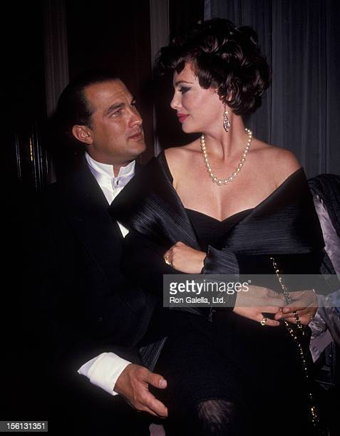 Model Kelly LeBrock and actor Steven Seagal attending 'Gala Honoring America's Heroes of '91' on October 28, 1991 at the Waldorf Astoria Hotel in New...