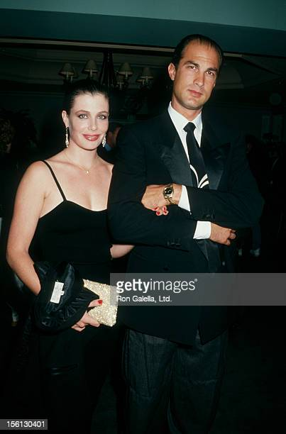 Model Kelly LeBrock and actor Steven Seagal attending 'Ted Kennedy Painting Dinner Benefiting Very Special Arts' on November 20, 1987 at Jimmy's...