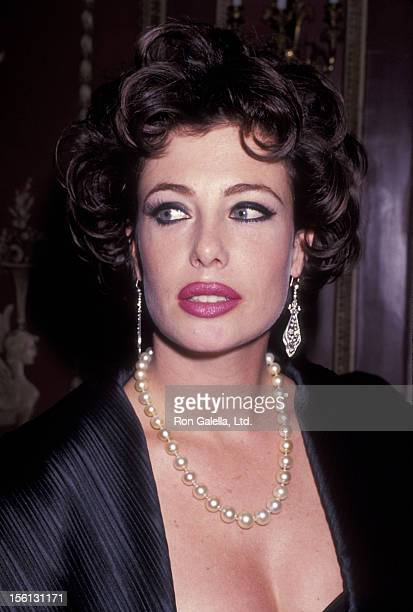 Model Kelly LeBrock attending 'Gala Honoring America's Heroes of '91' on October 28 1991 at the Waldorf Astoria Hotel in New York City New York