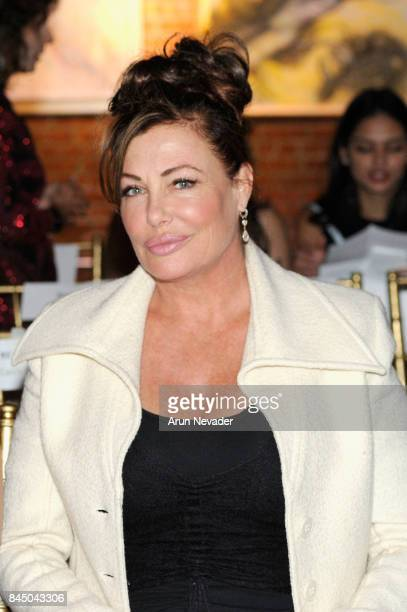Model Kelly LeBrock attends the Mac Duggal fashion show during New York Fashion Week NYFW Art Hearts Fashion at The Angel Orensanz Foundation on...