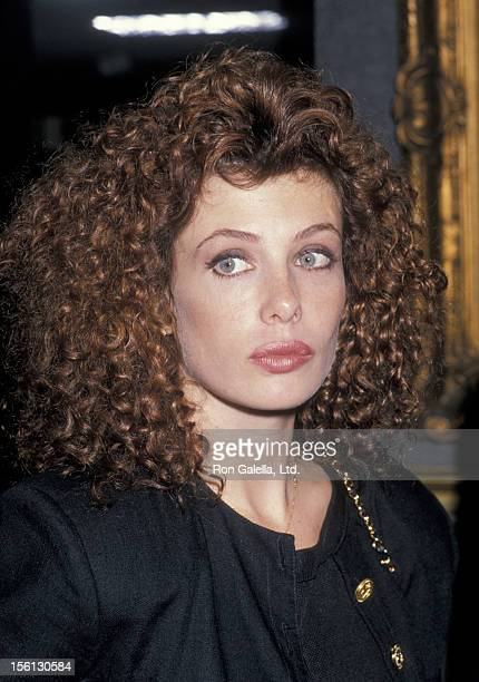 Model Kelly LeBrock being photographed on November 3, 1988 at Butterfield's in Los Angeles, California.