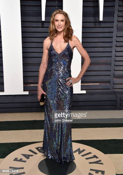 Model Kelly Lynch attends the 2017 Vanity Fair Oscar Party hosted by Graydon Carter at Wallis Annenberg Center for the Performing Arts on February 26...
