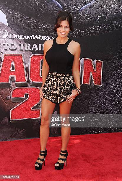 Model Kelly Paniagua arrives at the Los Angeles premiere of 'How To Train Your Dragon 2' at the Regency Village Theatre on June 8 2014 in Westwood...