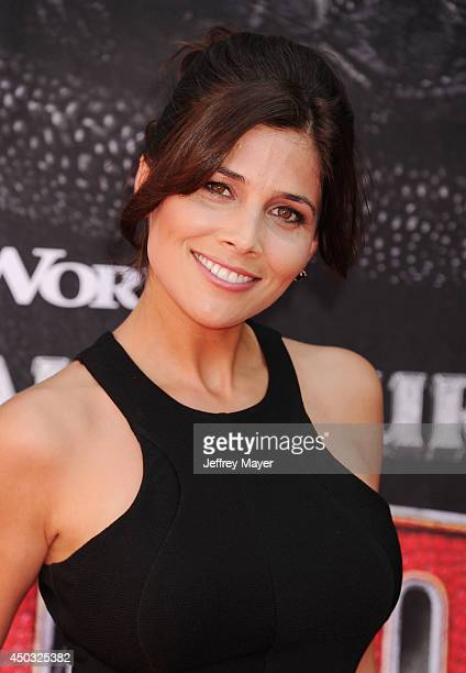 Model Kelly Paniagua arrives at the Los Angeles premiere of 'How To Train Your Dragon 2' at the Regency Village Theatre on June 8, 2014 in Westwood,...