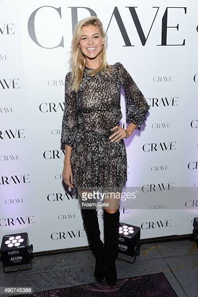 Model Kelly Rohrbach attends Evolve Media's Exclusive Celebration for the relaunch of CraveOnlinecom at Provocateur on September 30 2015 in New York...
