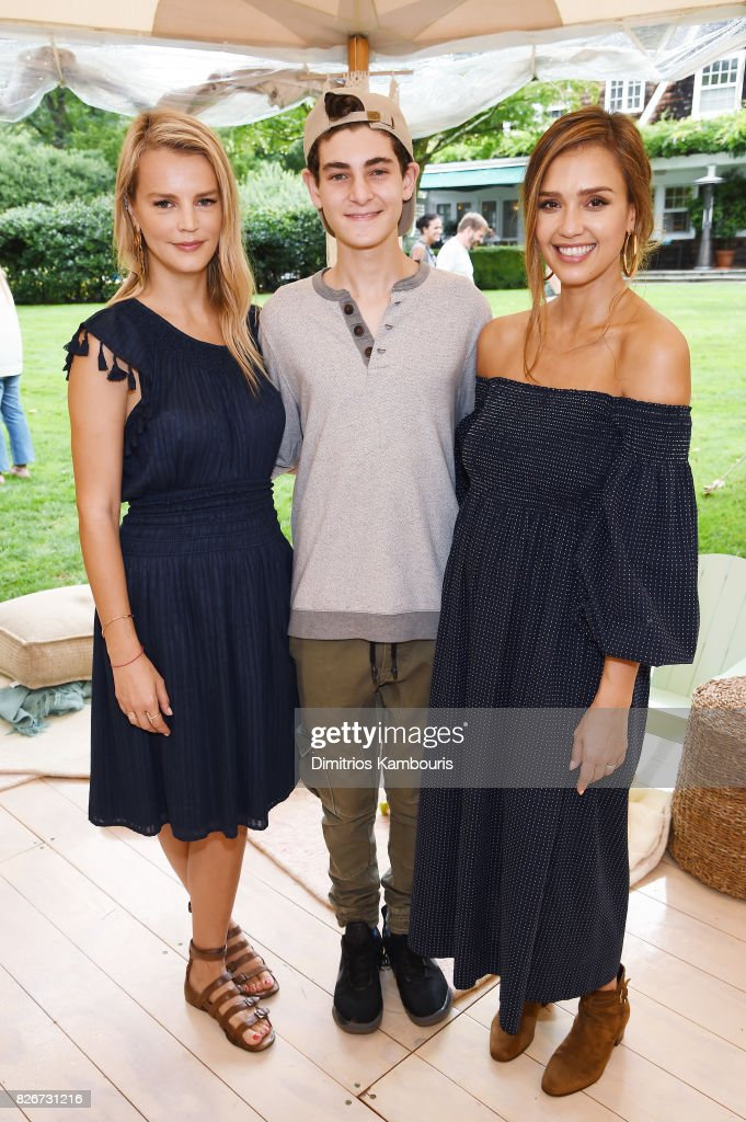 Model Kelly Sawyer and actors David Mazouz and Founder of The Honest Company and Honest Beauty Jessica Alba attend as the Honest Company and The GREAT. celebrate The GREAT Adventure on August 5, 2017 in East Hampton, New York.