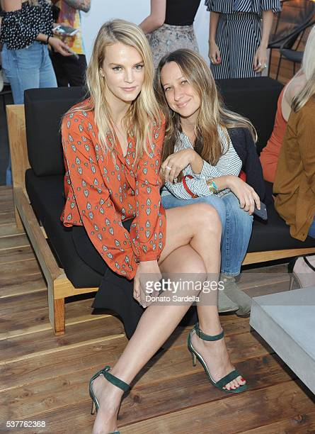 Model Kelly Sawyer and jewelry designer Jennifer Meyer attend House of Harlow 1960 x REVOLVE on June 2, 2016 in Los Angeles, California.