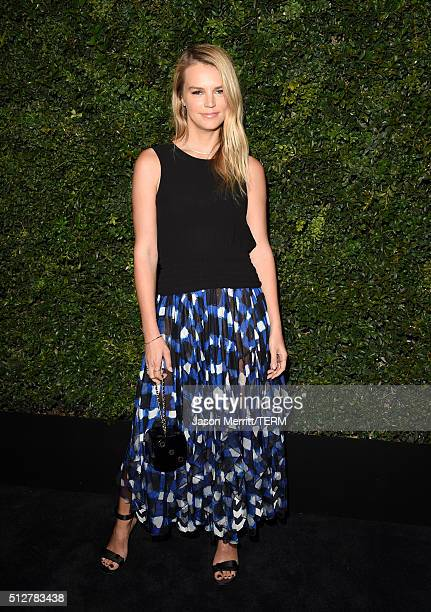 Model Kelly Sawyer attends the Charles Finch and Chanel PreOscar Awards Dinner at Madeo Restaurant on February 27 2016 in Los Angeles California