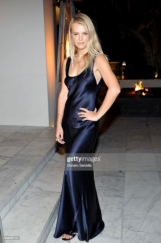 Model Kelly Sawyer attends the Galvan For Opening Ceremony Dinner Hosted By Swarovski at Private Residence on January 13, 2016 in Los Angeles, California.